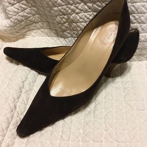 J Crew suede pumps
